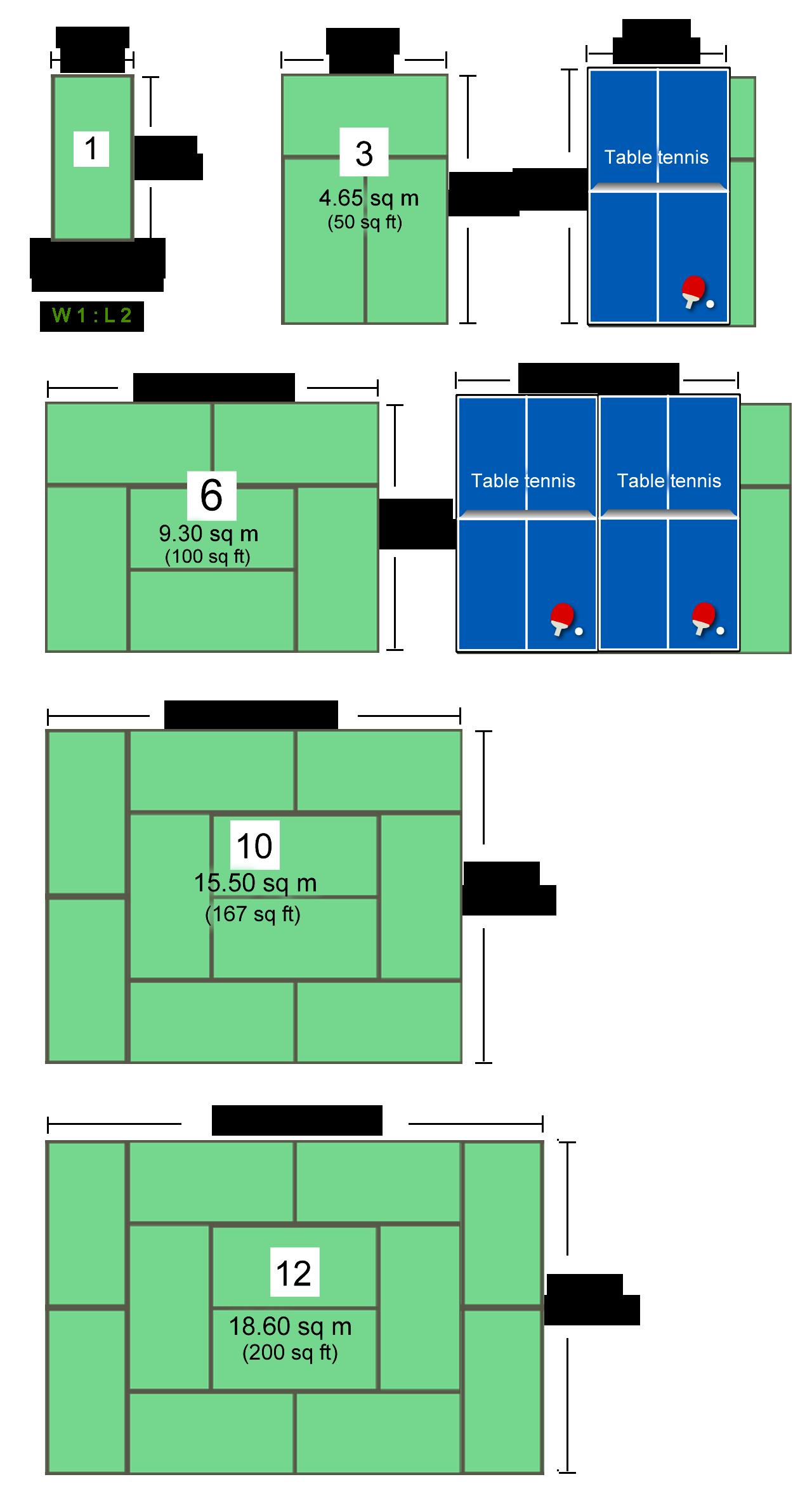 畳サイズ例